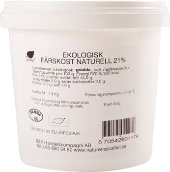 Ekologisk Färskost naturell 21%