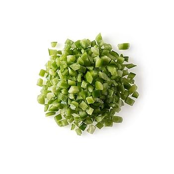 Paprika grön tärnad