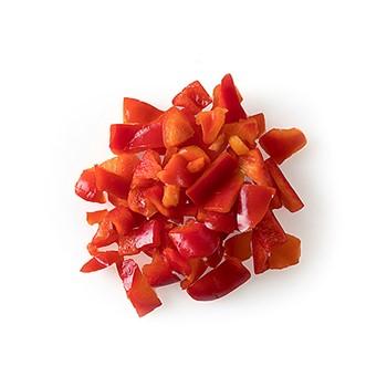 Paprika röd bitar