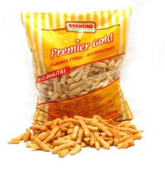 Pommes frites crincle cut