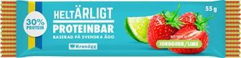 Proteinbar jordgubb/lime