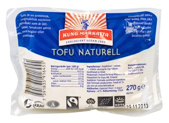 Tofu naturell KRAV & Fairtrade
