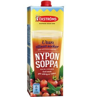 Nyponsoppa utan tills socker