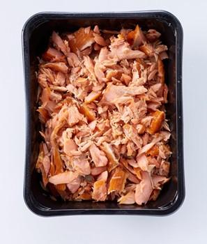 Pulled salmon naturell