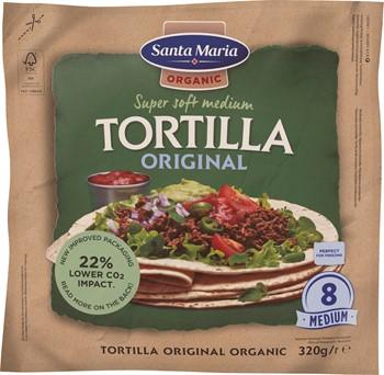 Tortilla Organic Original Medium