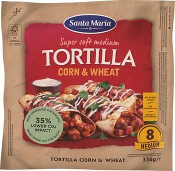 Tortilla Corn Wheat Medium