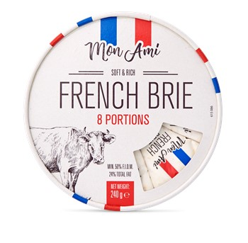 Brie Mon Ami, Portion